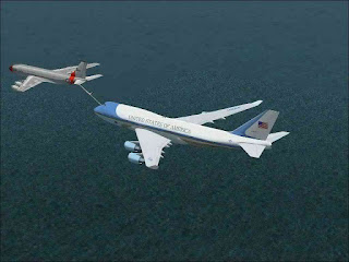 Mid air refueling of air force one