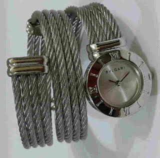 jam tangan Bvlgari lilit silver