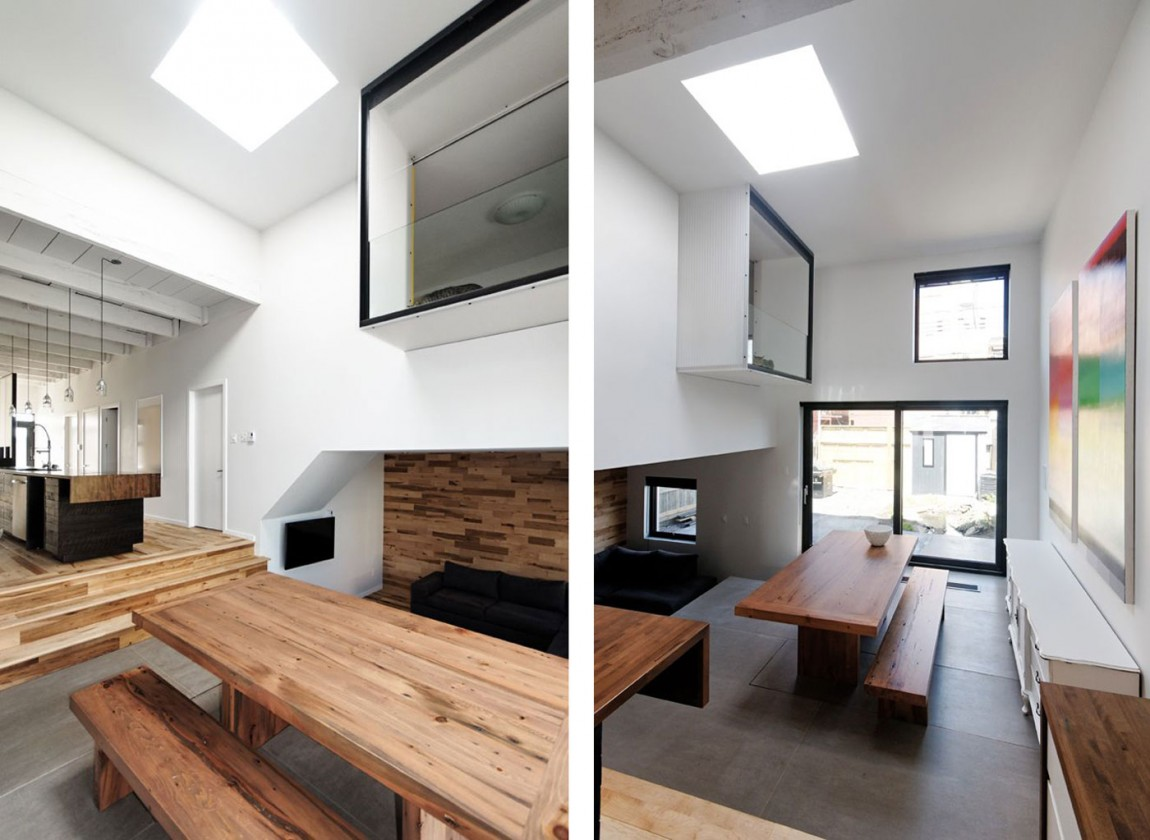 Small townhouse extension by naturehumaine housevariety for Minimalist house materials