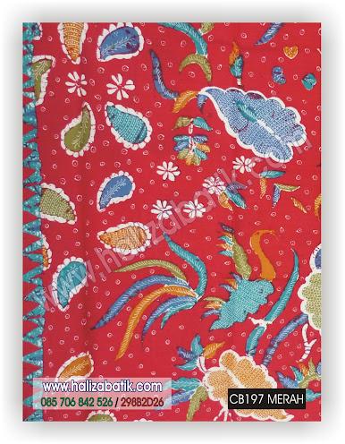 Grosir Baju Batik, Kain Batik Murah, Baju Batik Terbaru, CB197 MERAH