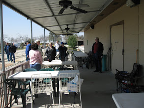 Photo: Getting ready for dinner - food in the shop at right.  HALS 2009-0228