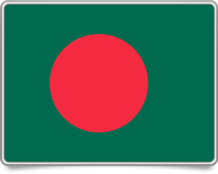 Bangladeshi framed flag icons with box shadow