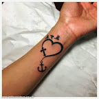 Heart Anchor and Cross - Simple tattoo - Forearm Tattoos Designs