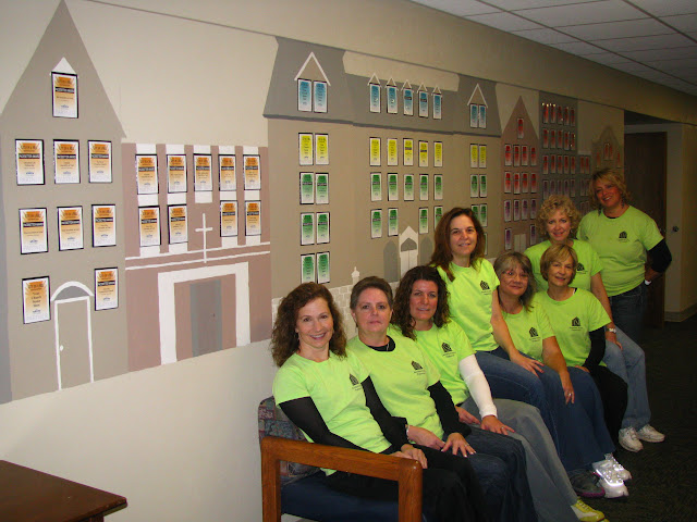 SEWIRC members worked together to create a mural as part of our 2012 Worldwide Staging Services Week project