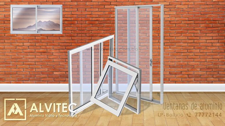 Ventanas en material de aluminio y vidrio