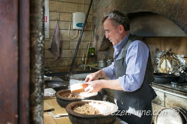 güveçlerdeki etli pilav, Tarihi Güveç Fırını Beypazarı