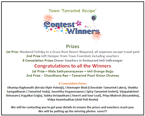 Towness Tamarind Recipe Contest Winners
