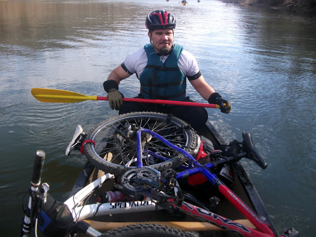 Paddling with Bikes while Adventure Racing