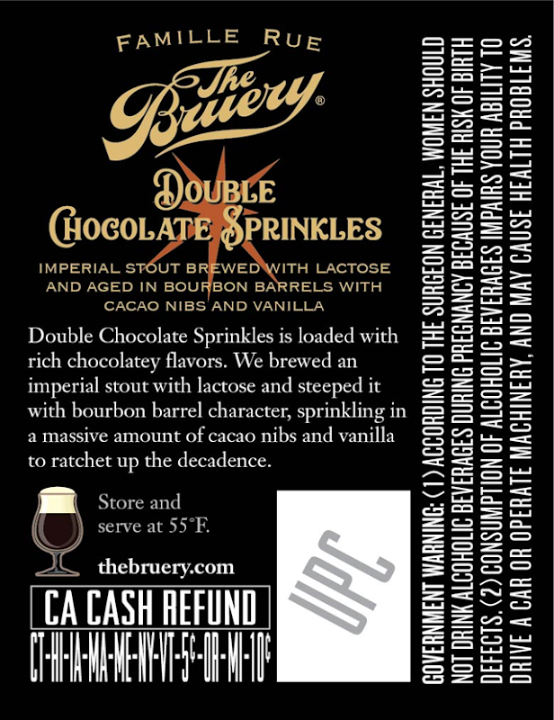 The Bruery Adding Double Chocolate Sprinkles Cans & Bottles