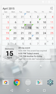 Calendar Widget Month + Agenda- screenshot thumbnail