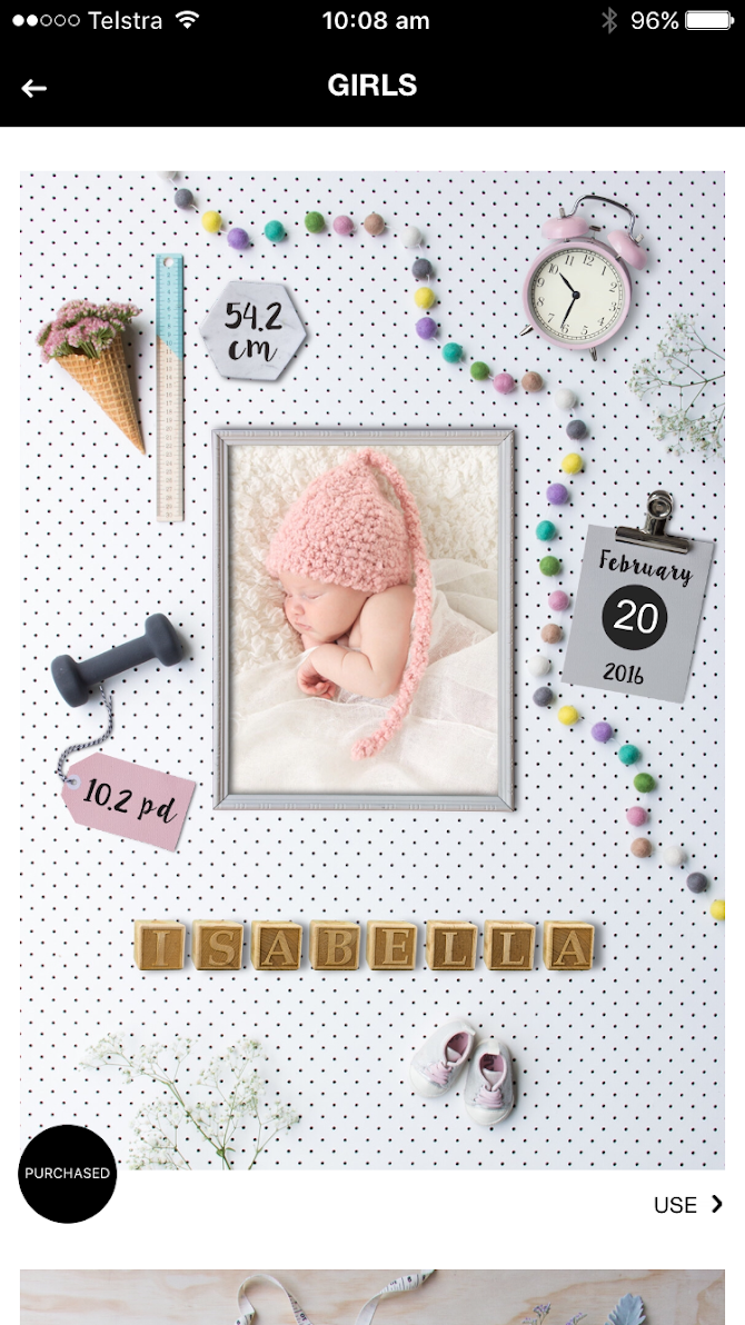 Birth Announcement Android 7