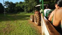 Traktorfahrt in Tati Yupi NP Paraguai