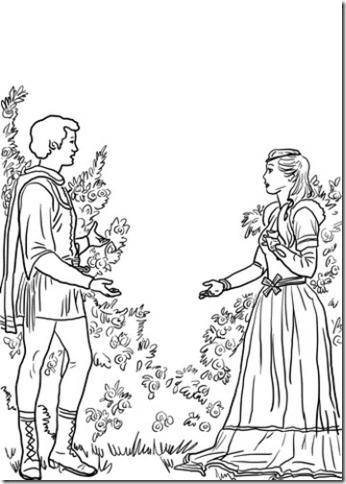 romeo-and-juliet-in-the-garden-coloring-page