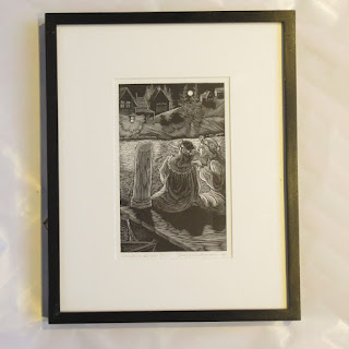 Siri Beckman Signed Wood Engraving 1