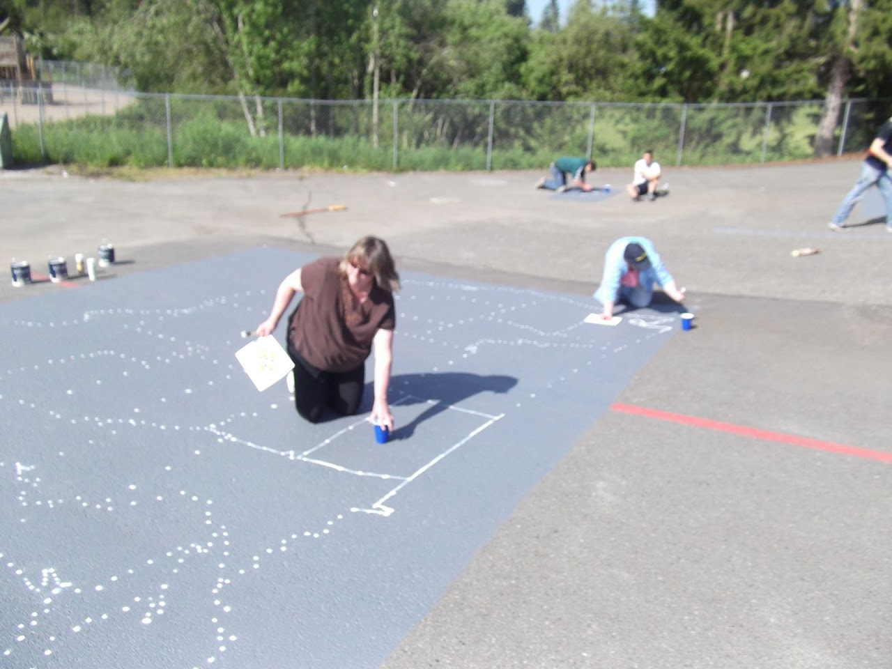 Adults were tasked with drawing in the lines between the dots...because they were more careful!?