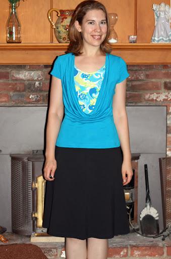 Style Arc Demi Drape top (silk/rayon jersey)