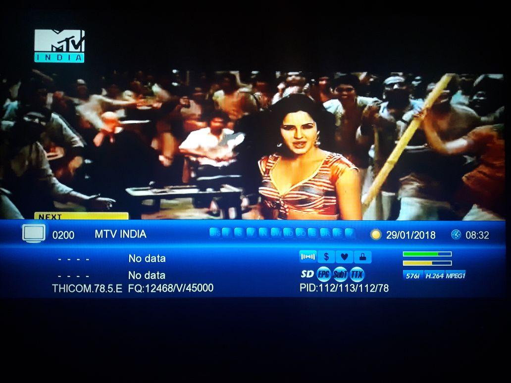 Colors Rishtey MTV INDIA ON Thaicom @ 78 5 East (Ku Band) New