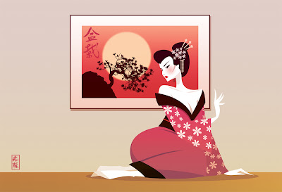 Geisha Girl and the Bonsai by Stanley Chow