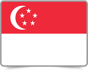 Singaporean framed flag icons with box shadow