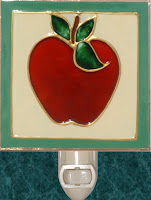 apple nightlight with sage green frame