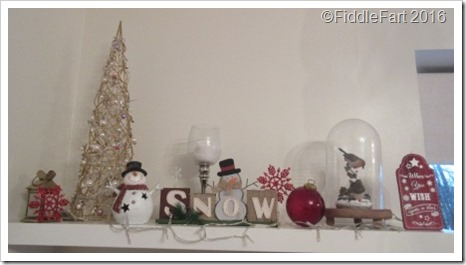 Christmas Display Shelf Festive Shelves