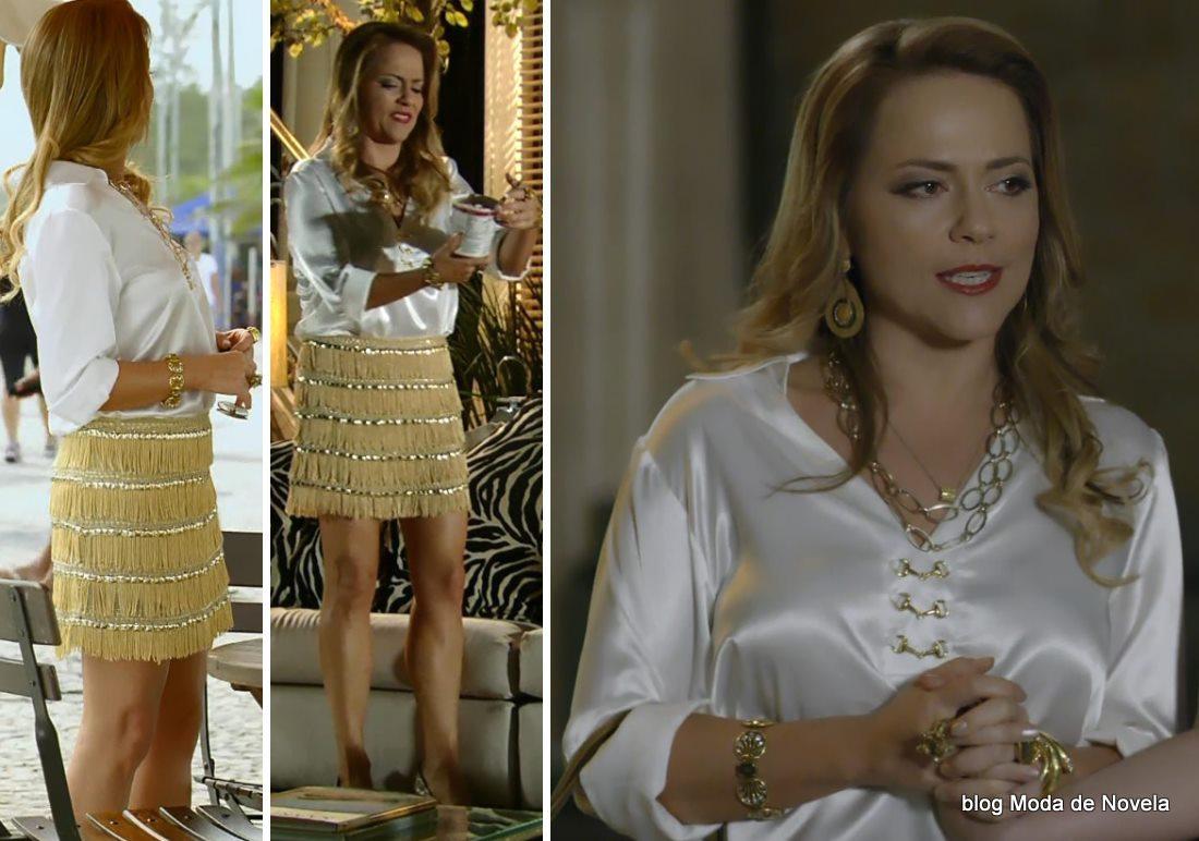 moda da novela Em Família - look da Shirley dia 3 de maio
