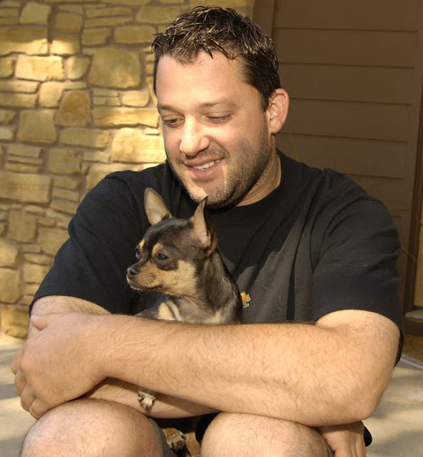 Tony Stewart and his dog
