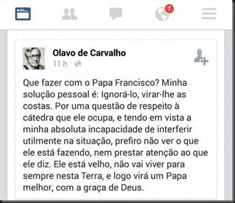 cristica-anticrista-de-olavo-de-carvalho-papa-franscisco