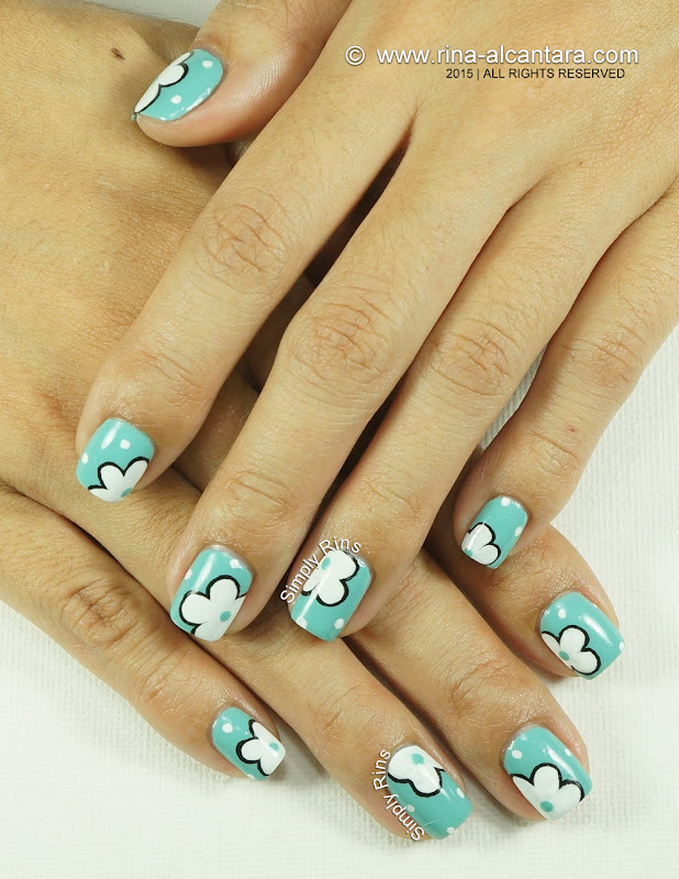 Flowers on the Side Nail Art Design by Simply Rins