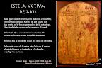 Estela votiva de Aku. Cultura egipcia