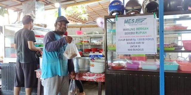 Setiap Jumat, di Palangka Raya Ada Nasi Bungkus Seharga Rp1000