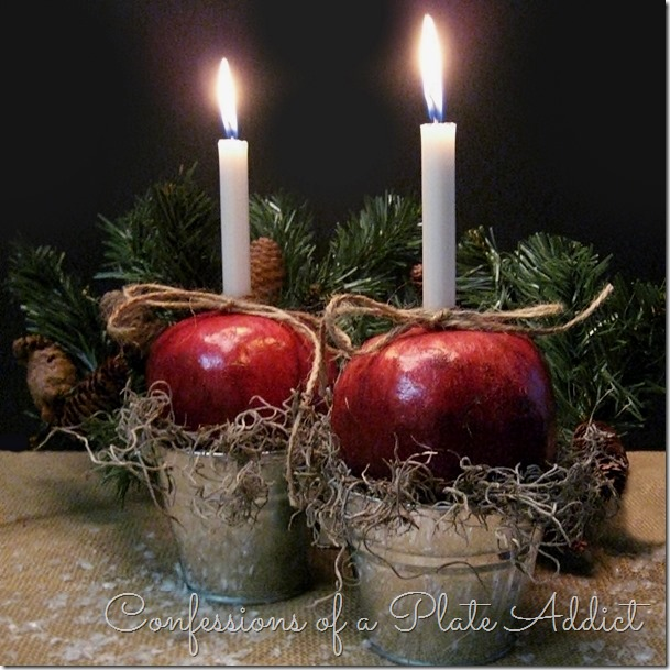 CONFESSIONS OF A PLATE ADDICT Easy and Festive Pomegranate Candle Holders