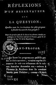 Cover of Louis Claude De Saint Martin's Book Reflexions d'un Observateur Sur la Question (1805,in French)