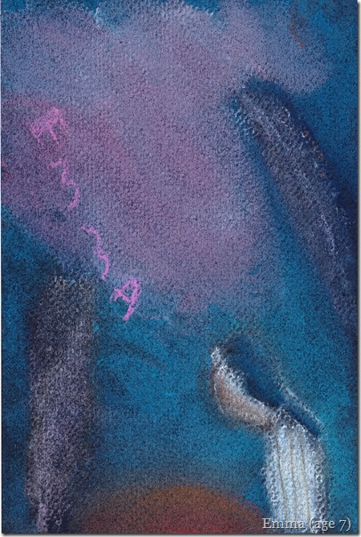 creating a masterpiece soft pastel blue bird 1
