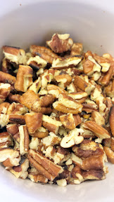 Optionally, toast some nuts (here pecans) for this Apple Cranachan Recipe