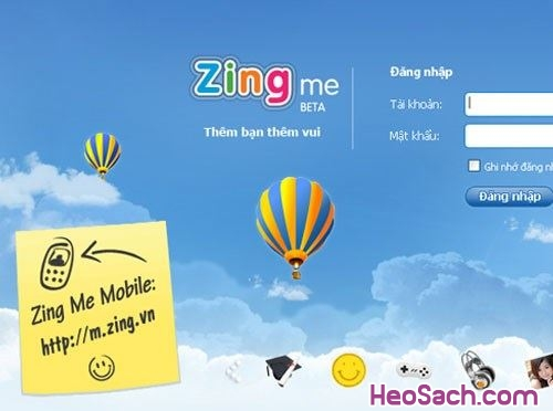 Hình 2 - Hướng dẫn cách đổi mật khẩu Zing Me nhanh