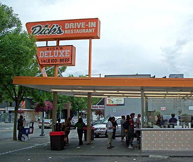 Finish with a burger from Dick's Drive-In!  Don't forget the shake!
