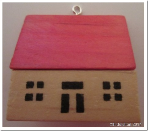 wooden brick house toy