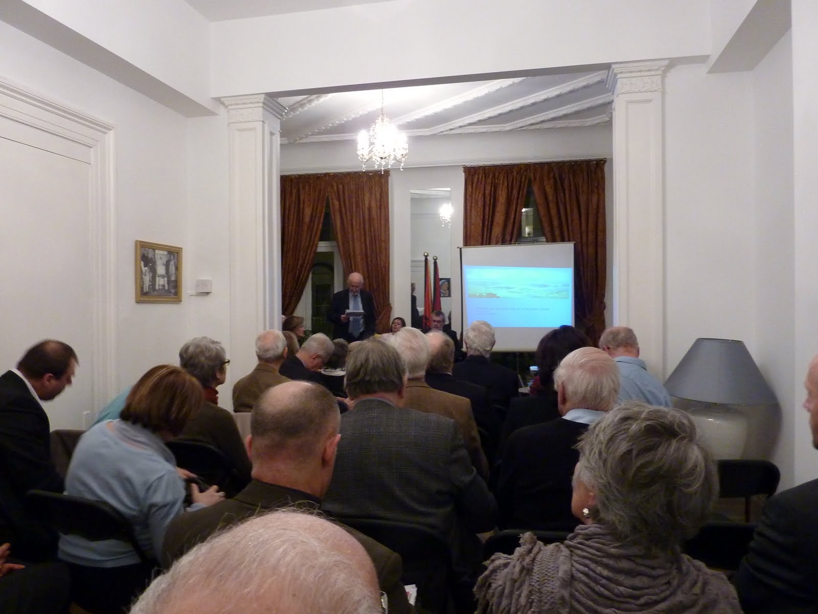 Organised by The Embassy of the Republic of Albania and the Anglo-Albanian Association. Lecture by BRIAN AYERS.