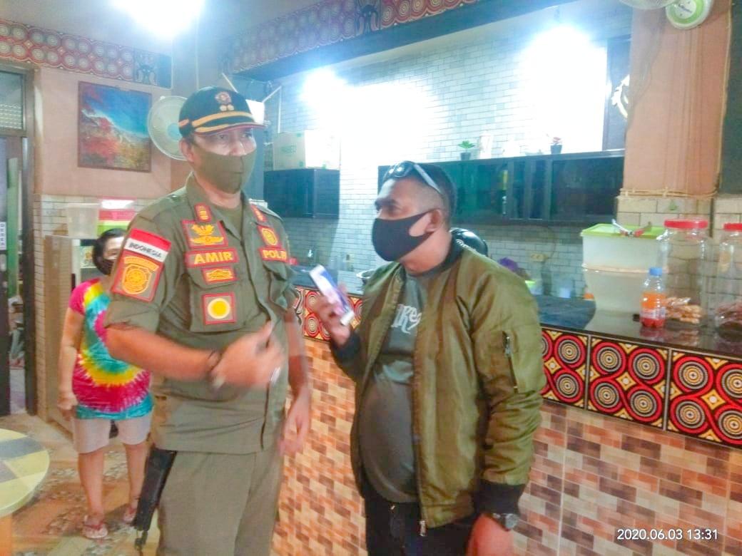 Satpol PP Kab.Soppeng Gencar Lakukan Patroli Covid 19 di Sejumlah Warkop