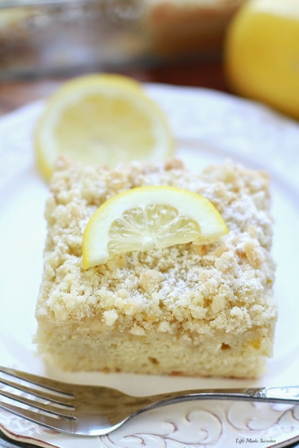 Greek Yogurt Lemon Coffee Cake - A bright & flavorful lightened up lemon coffee cake with a delicious buttery streusel topping & a sweet & tangy lemon glaze..jpg