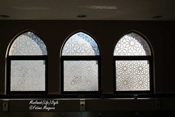 Windows above the Wudhu Facilities