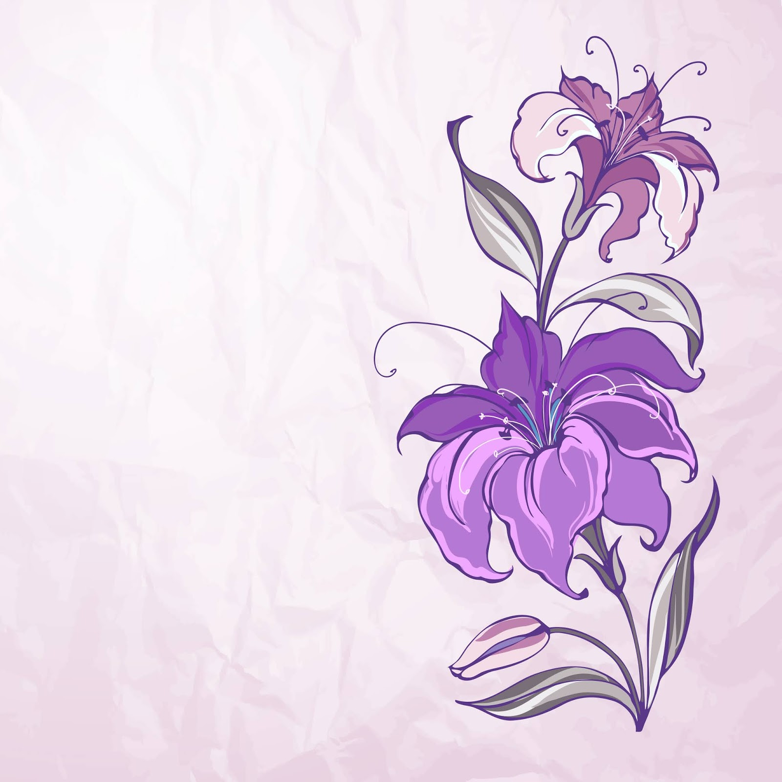 Abstract Background With Blooming Lilies Free Download Vector CDR, AI, EPS and PNG Formats