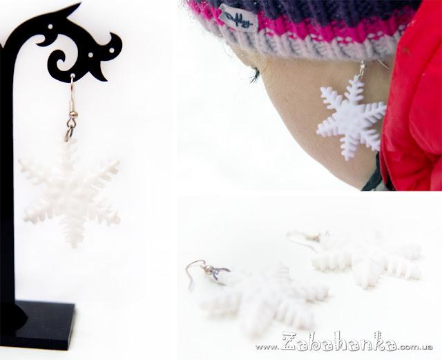 Сережки сніжинки