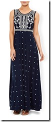 Monsoon navy jersey print maxi dress