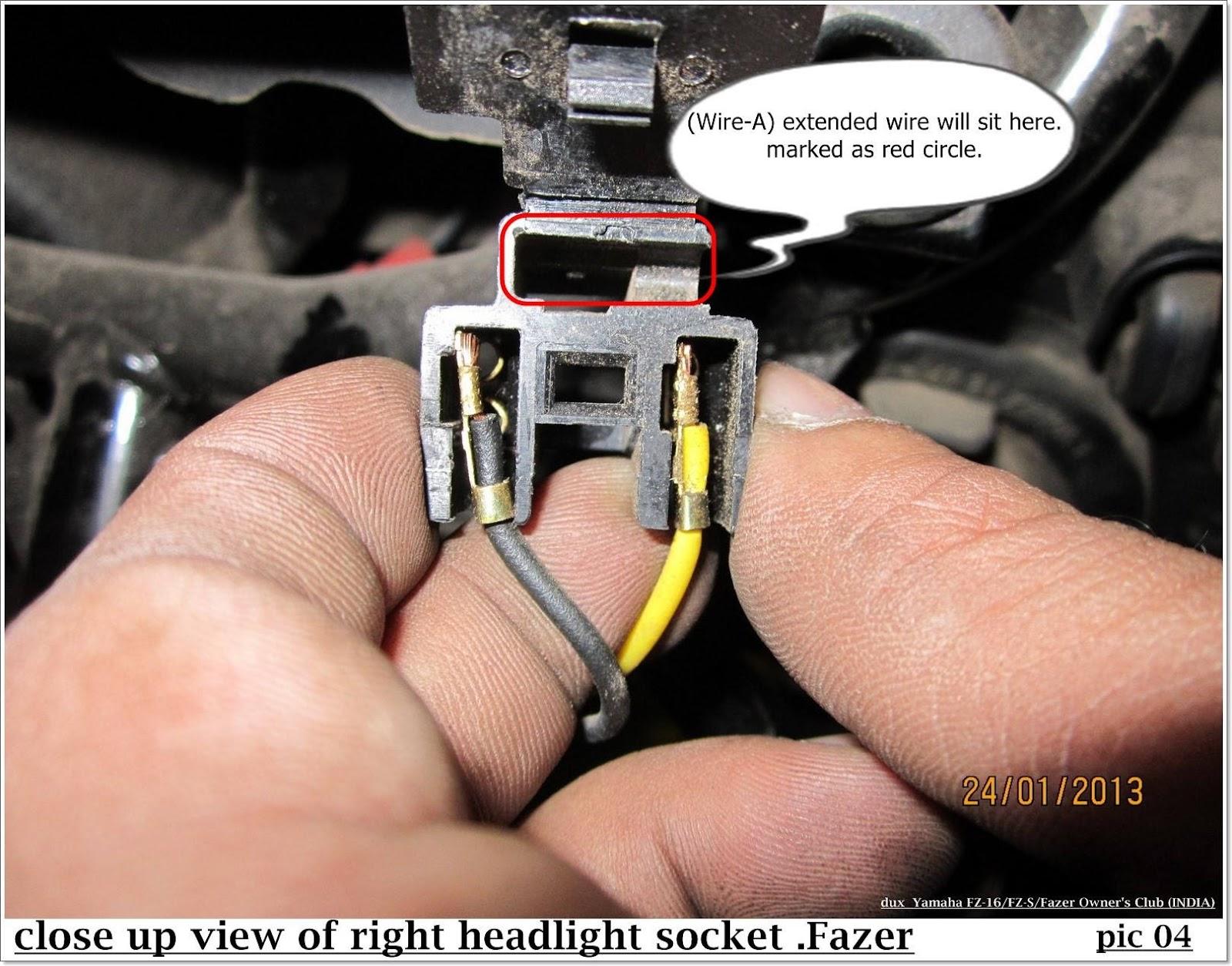 Diytwin Headlight Beam For Fazer Yamaha Fz8 Wiring Diagram 4