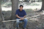 Tool making demonstration with Ivan at Sunrise Campground, Paseo del Lobo July 13-15 (Photo by D. Sayre)