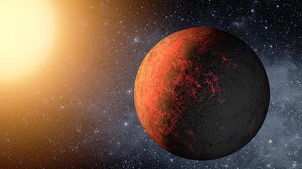ilustração de um sistema exoplanetário