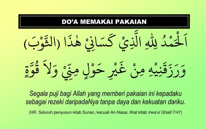 Image result for doa memakai pakaian