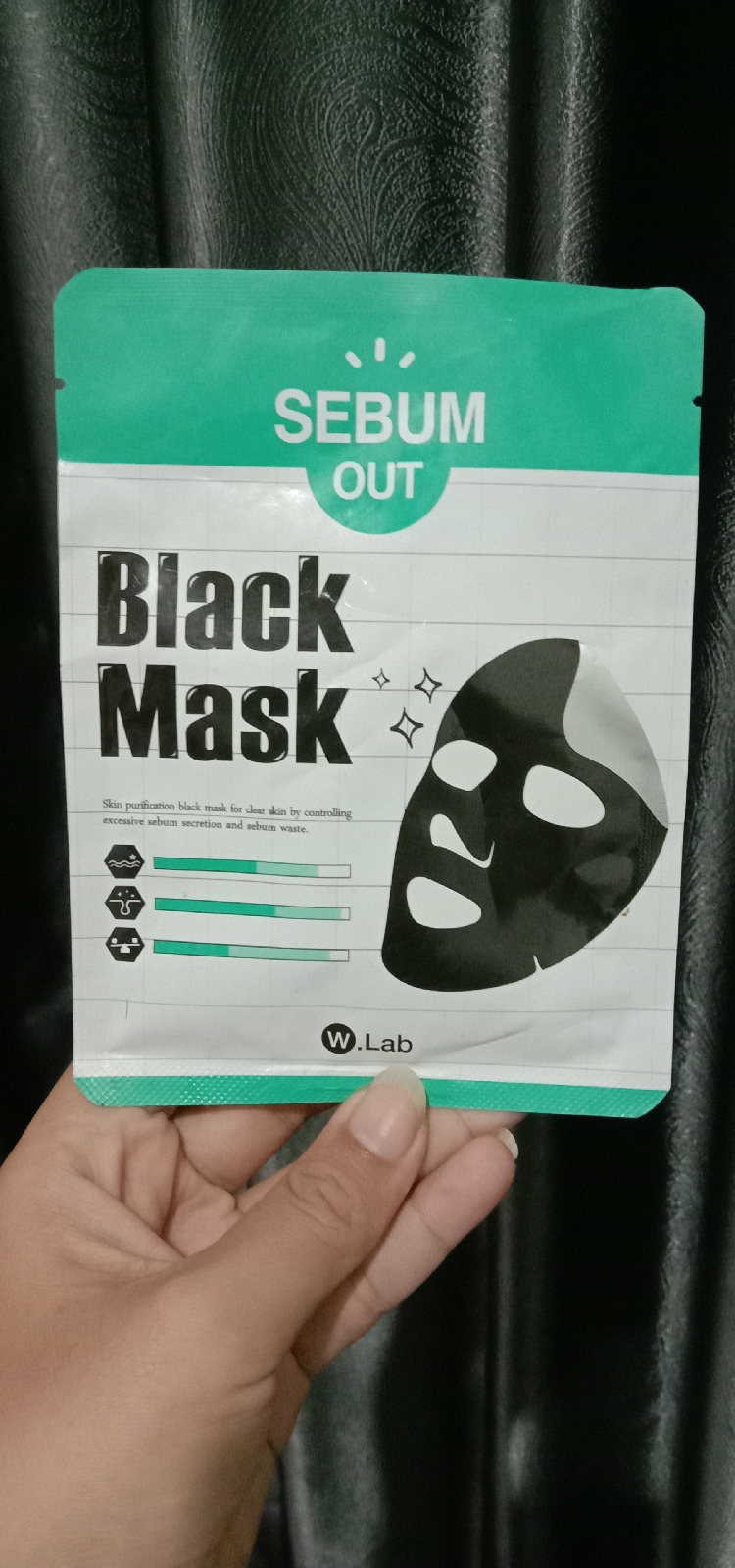 Review W.Lab Sebum Out Black Mask